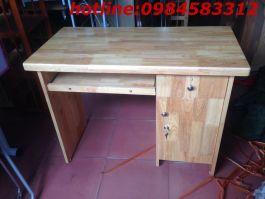 bàn vi tính 120 BVT120cm gỗ cao su tự nhiên