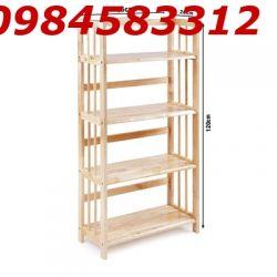 kệ sách 3 tầng 65 KSG3T65 gỗ tự nhiên