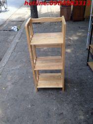 kệ sách 3 tầng 40 KSG3T40 gỗ tự nhiên