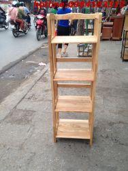 kệ sách 4 tầng 40 KSG4T40 gỗ tự nhiên