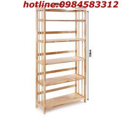 kệ sách 5 tầng 80 KSG5T80 gỗ tự nhiên
