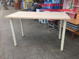 bàn làm việc chân trụ 140x60 BCT1406