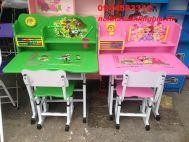 bàn ghế trẻ em màu xanh lá cây mẫu 01