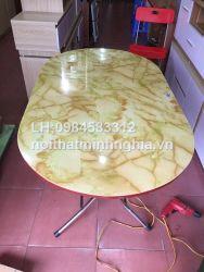 bàn ăn chân gấp 140x80x75