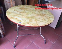 bàn ăn chân gấp tròn phi 100cm