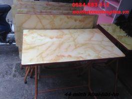 bàn ăn chân gấp 100x60x75cm