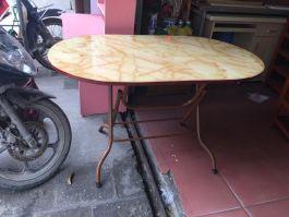 bàn ăn chân gấp 120x70x75