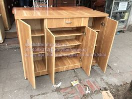 tủ giày 120 gỗ công nghiệp cao 85cm