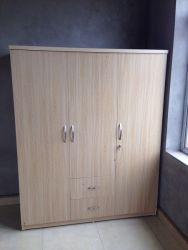 tủ áo gỗ công nghiệp 160cm 3 cánh 2 ngăn kéo màu lim 160x200