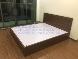 giường gỗ công nghiệp 1,8x2m không ngăn keó