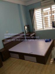 giường gỗ công nghiệp 160x200 có ngăn kéo sườn
