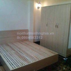 giường gỗ công nghiệp dát thưa 160x200 không ngăn kéo