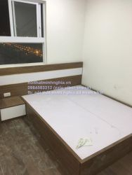 giường gỗ công nghiệp 180x200 đi liền với táp giường
