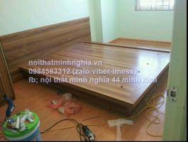 giường gỗ tự nhiên 180x200 không ngăn kéo
