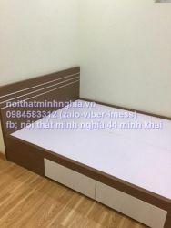 giường gỗ công nghiệp 180x200 có ngăn kéo