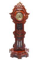 Đồng hồ hoa lá tây gỗ hương vân