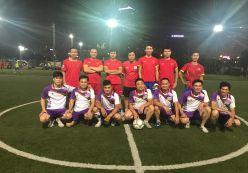 Hoàng Nguyễn tham gia giao hữu bóng đá với FC-DSS