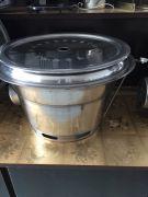 Bếp nướng than âm bàn hút dưới