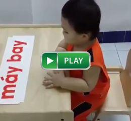 Bé Gấu 2 tuổi học đọc về chủ đề Phương tiện giao thông