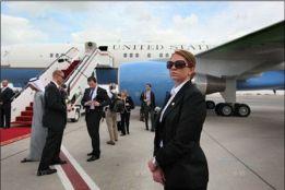 """Đội 13 """"thiên thần"""" bảo vệ Ngoại trưởng Mỹ Hillary Clinton"""