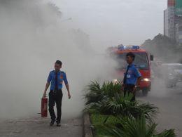 nhân viên bảo vệ tập huấn phòng cháy chữa cháy 03/2017