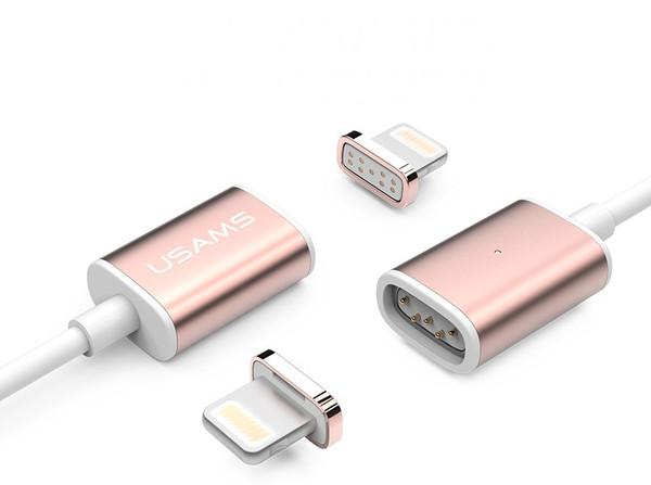 Cáp sạc từ Usams Metal Magnetic cho iPhone 5/5S/6/6S/Ipad