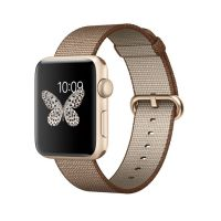 APPLE WATCH SPORT 42MM SERIES 2 - GOLD - CARAMEL NYLON BAND