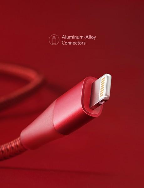 Cáp Lightning Anker PowerLine+ II - Dài 0.9m