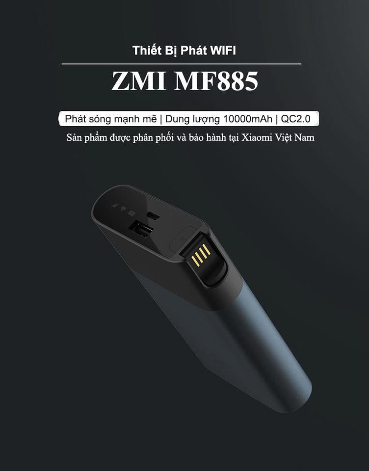 Bộ phát Wifi từ Sim 3G, 4G ZMI WIFI MF885