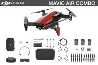 DJI MAVIC AIR FLY MORE COMBO TRẮNG ĐEN ĐỎ (3Pin + Remote + Phụ kiện)