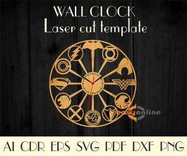 đồng hồ treo tường mang phong cách châu âu-A04