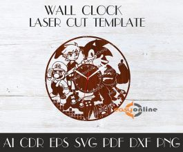 đồng hồ treo tường phong cách châu âu-A33
