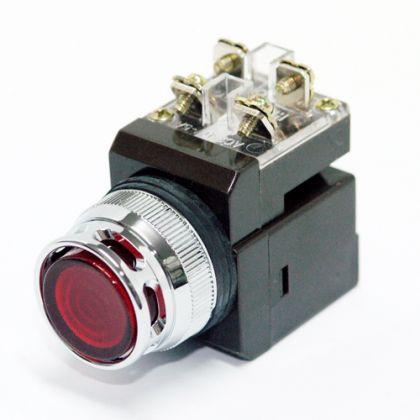 Nút nhấn có đèn đỏ Ø25