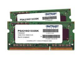 Patriot Mac Series 16GB Patriot Mac Series 16GB Apple SODIMM Kit (2X8GB) DDR3 1333 PC3 10600 204-Pin