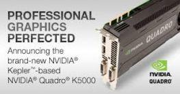VGA Nvidia Quadro Kepler K5000 4GB  ECC/256bit/GDDR5 - 1536 Cuda Core/Memory bandwidth 173Gb/s/HP Refurbished, có hộp
