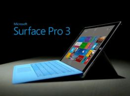 Máy tính bảng MS Surface Pro 3' RAM 8 GB, SSD 256 GB, core  I7 4650U 1.7 Ghz, Turbo 2.3