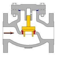 Van một chiều lá lật DN 80/ Van chống chảy ngược phi 90