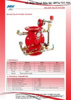 Van xả tràn ngập/ ARV Deluge valve System