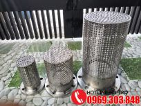 Rọ bơm inox, luppe inox, foot valve inox DN50, DN65, DN80, DN100, DN150, DN200, DN300, DN350