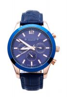 Đồng hồ nam 6 kim JULIUS JAH-092 dây da (xanh)