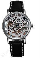 Đồng hồ cơ dây da OUYAWEI OUY201 (Đen)