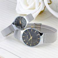 Đồng hồ ncặp JULIUS JA577 dây thép (mặt đen)