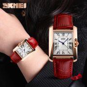 Đồng hồ nữ SKMEI 1043 dây da (đỏ)
