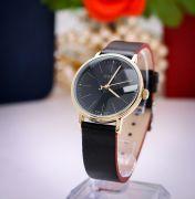 Đồng hồ nữ JULIUS JA814 dây da (đen)