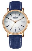 Đồng hồ nữ JULIUS JA910 dây da (xanh dương)