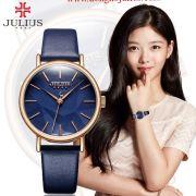 Đồng hồ nữ JULIUS JA985 dây da (xanh đen)