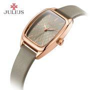 Đồng hồ nữ JULIUS Hàn QUốc JA997 dây da xám