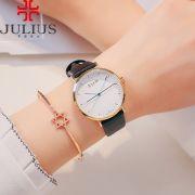Đồng hồ nữ JULIUS Hàn QUốc JA978 dây da đen trắng