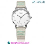 Đồng hồ nữ JULIUS JA1021 dây da xám trắng