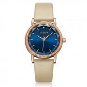 Đồng hồ nữ JULIUS Hàn QUốc JA1012 dây da nâu cafe